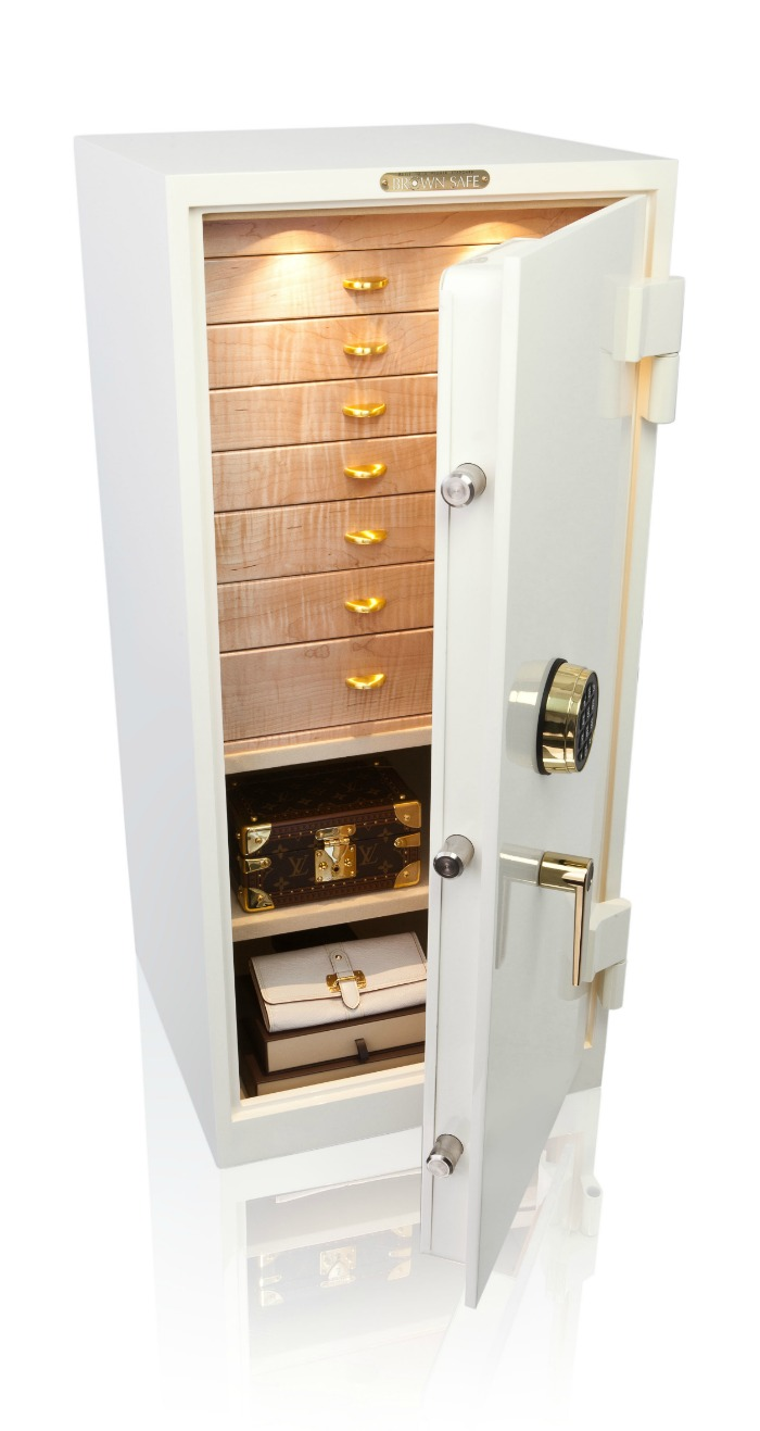 A beautiful custom safe form Brown Safes - as beautiful as the jewelry I'd like to store inside it.