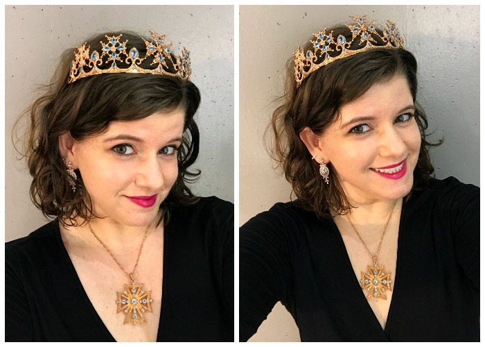 All decked out in Dallas Prince designs jewelry!! I miss this crown. I should have bought it.