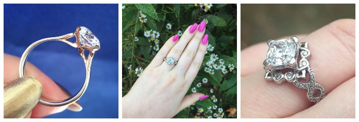 Engagement rings by MaeVona, a fantastic women-owned engagement ring brand.