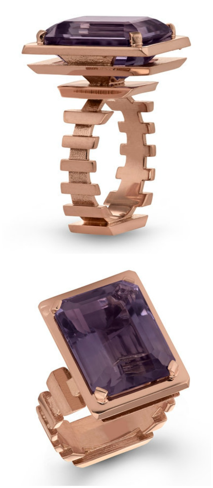 I love this amethyst sliced pyramid ring by Beolli for Vitae Ascendere.