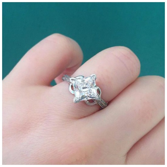 The glamorous Canna Pave diamond engagement ring by MaeVona.