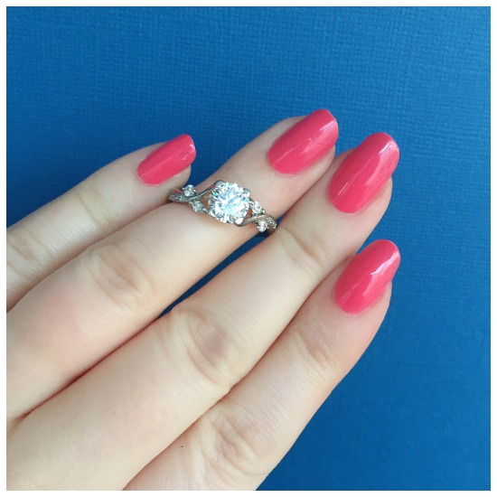 The lovely Tansy Pave diamond engagement ring by MaeVona.