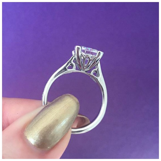 The lovely side view of the Sollas engagement ring by MaeVona.