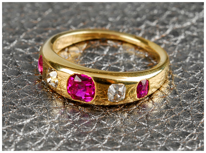 A late Victorian era ruby and diamond ring. This would be a fantastic alternative engagement ring.