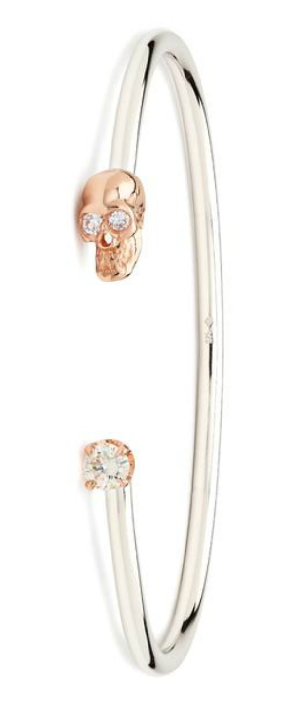I love the Alexis Kletjian skull cuffs! This one is in silver and rose gold with diamonds.