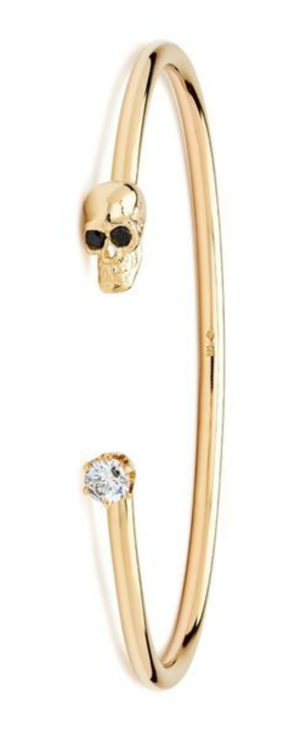 I love the Alexis Kletjian skull cuffs! This one is in solid yellow gold with diamonds.