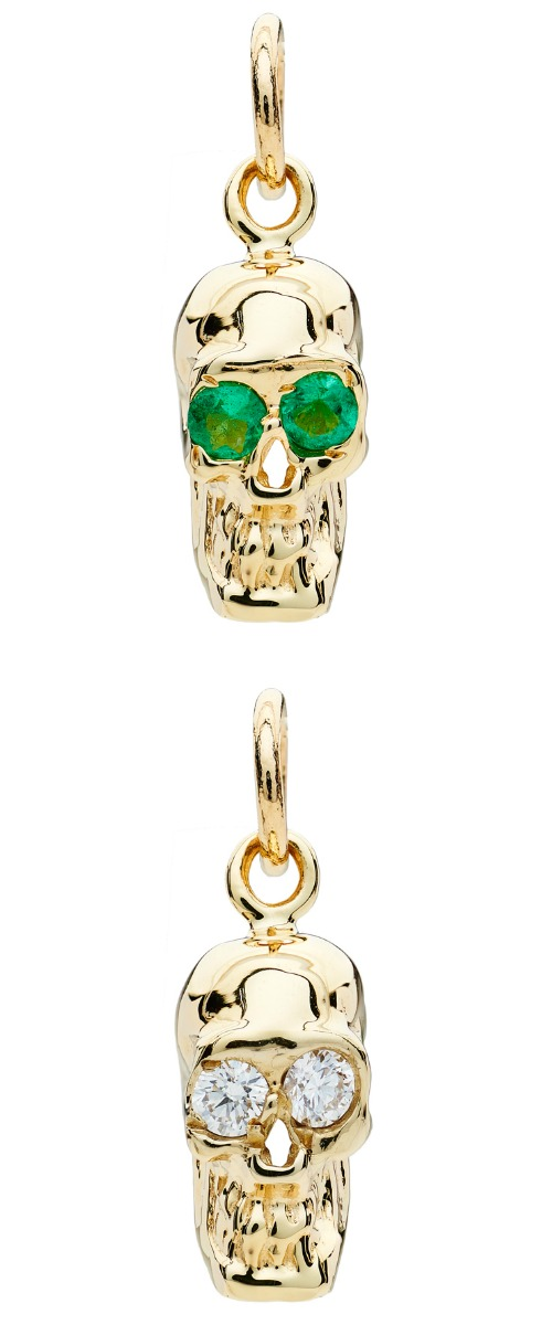 I love these Alexis Kletjian skulls! In yellow gold with emeralds or diamonds.