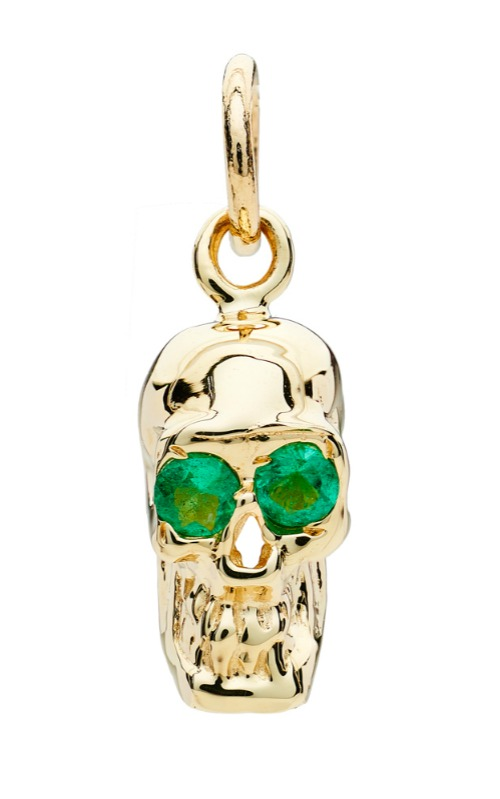 I love these Alexis Kletjian skulls! In yellow gold with emeralds.