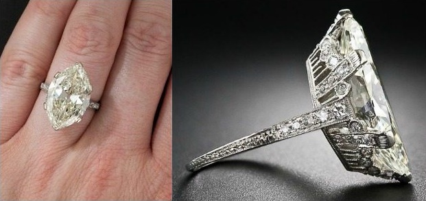Ode to a moval Lang Antiques' 9.55 carat beauty.