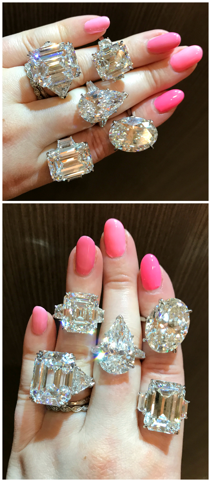 A hand full of glorious diamond rings by the legendary Kwiat! Any one of these would be a dream engagement ring.