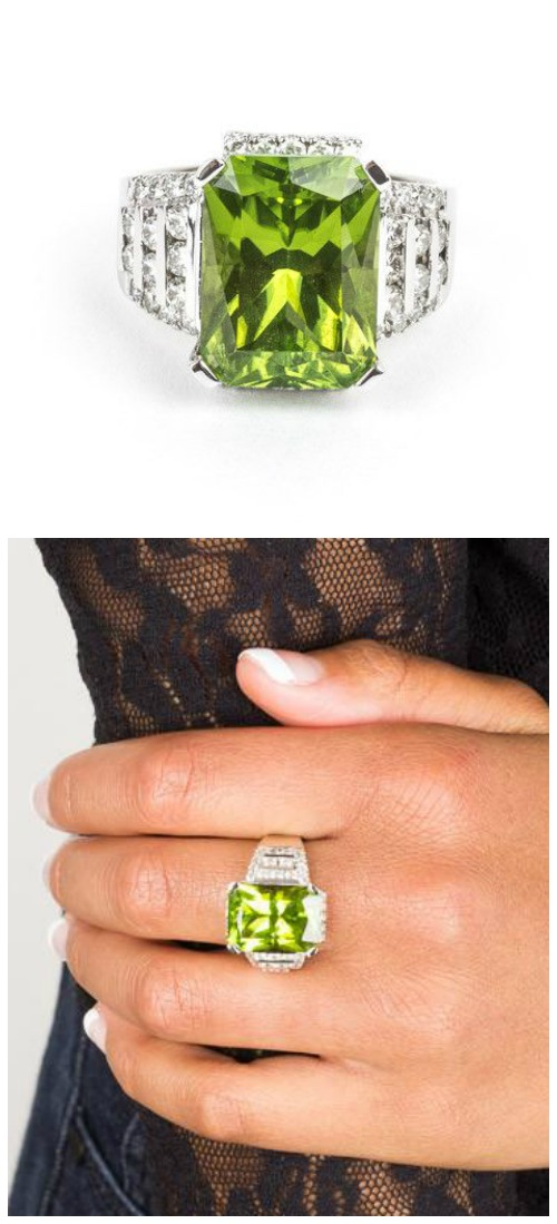A wonderful pre-loved diamond and peridot ring from STORE 5a.