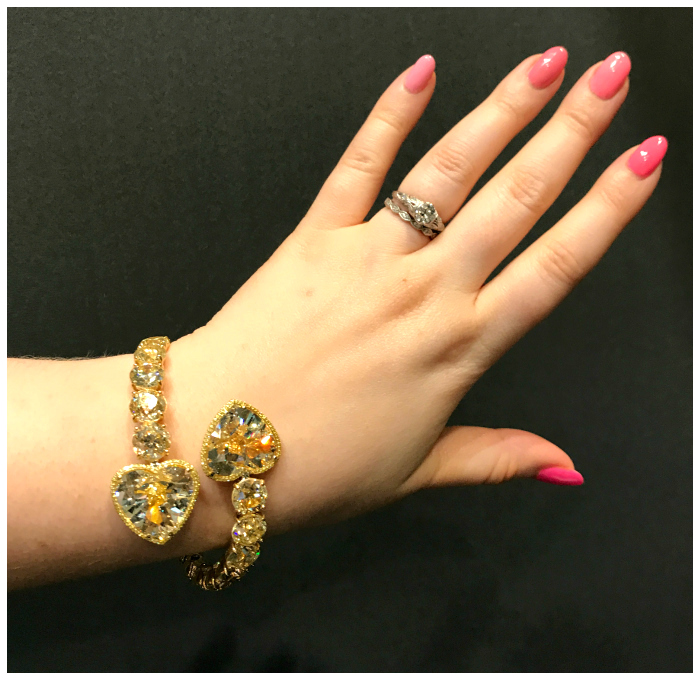 An incredible yellow diamond bracelet by V Tse jewelry.