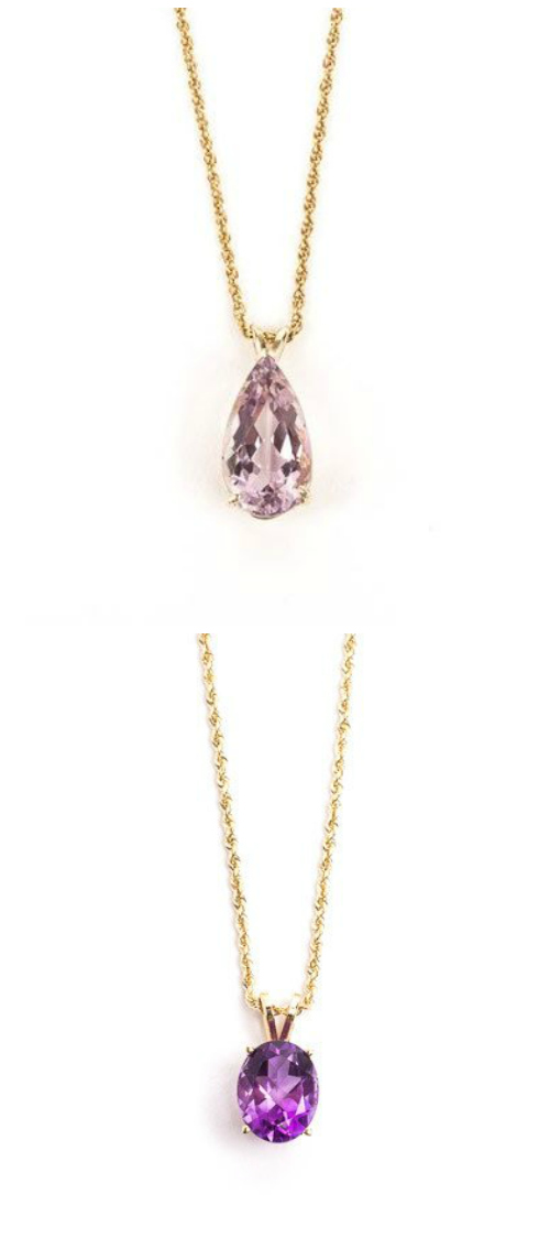 Two wonderful amethyst necklaces from STORE 5a.