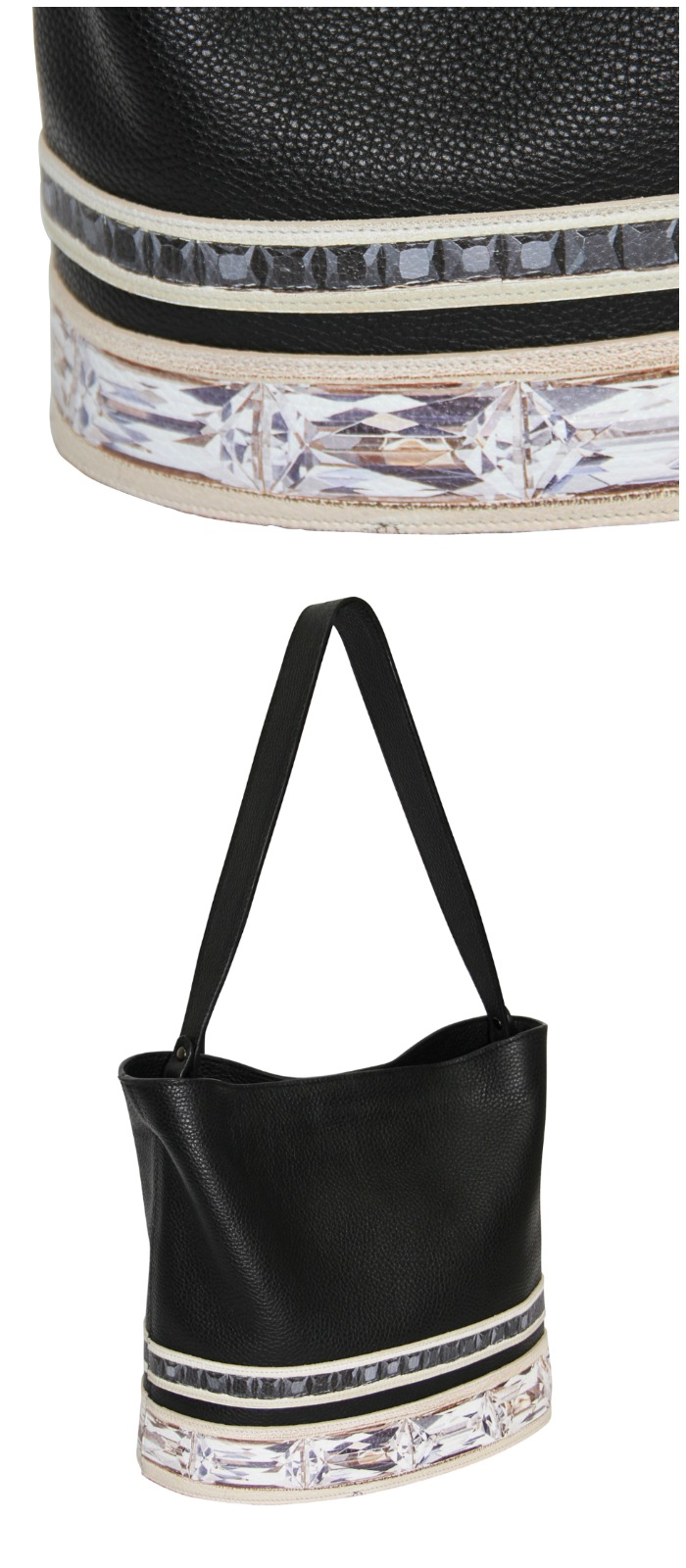This beautiful Paige Gamble bucket bag is inspired by actual jewelry made by Jane Taylor Jewelry!
