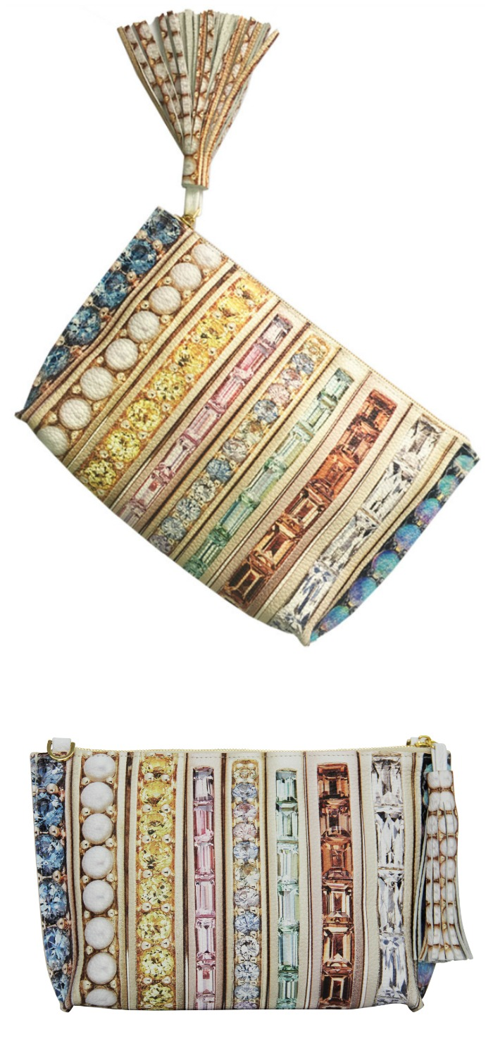 This beautiful Paige Gamble clutch bag is inspired by actual jewelry made by Jane Taylor Jewelry!