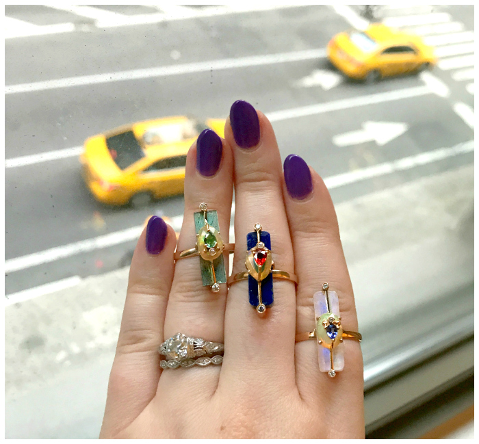 Looking over NYC with a handfull of Loriann Jewelry rings.