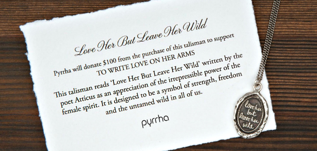 Love her but Leave her Wild pendant by Pyrrha.