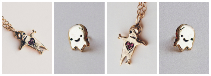 Precious ghouls and ghosties from the Sofia Zakia Halloween Horror collection.