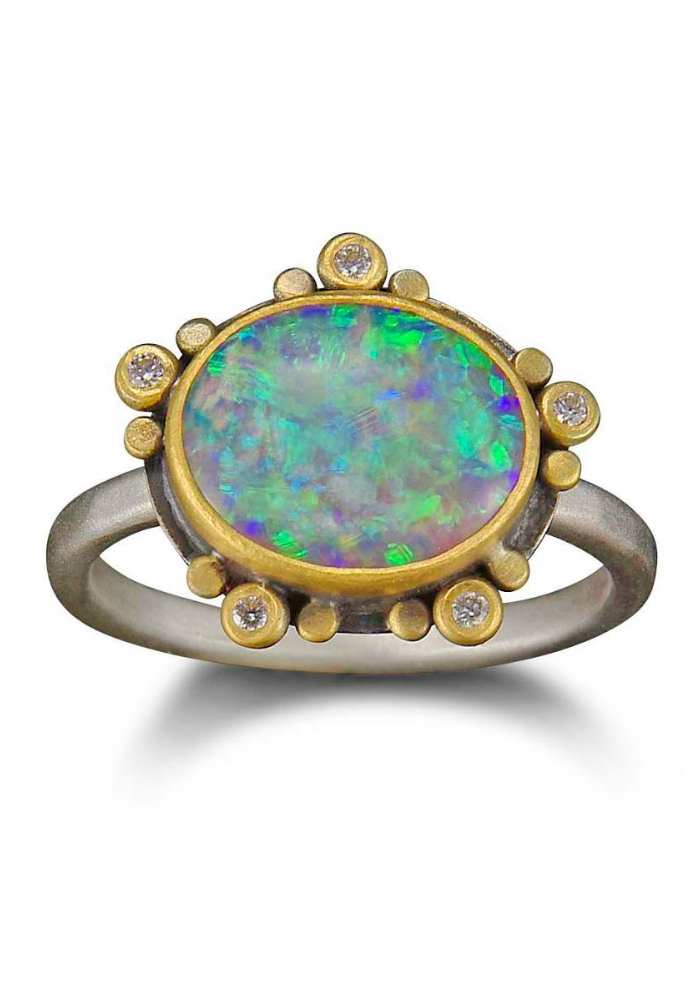 A one of a kind opal ring by Ananda Khalsa