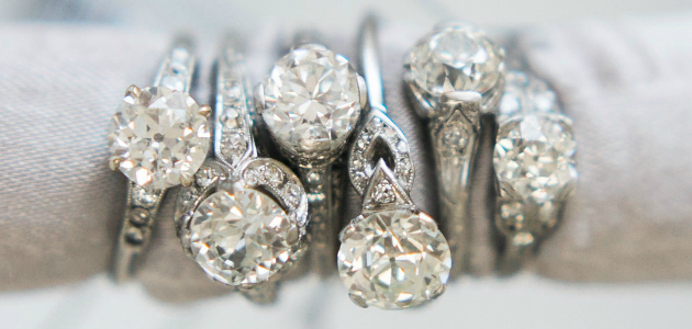 12 vintage engagement rings from Victor Barbone.