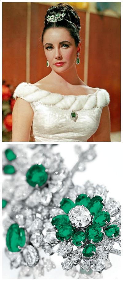 Elizabeth Taylor's Bulgari emeralds and diamonds.