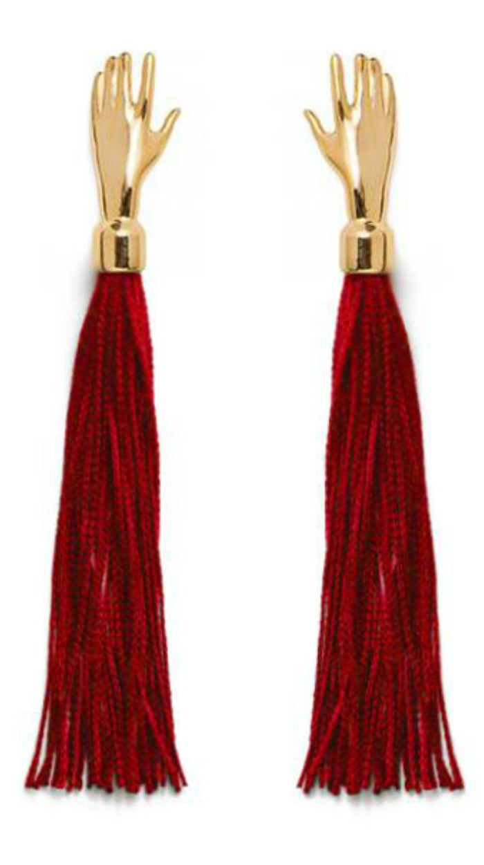 I love these hand tassel earrings from Lady Grey jewelry! So good for the holiday season.
