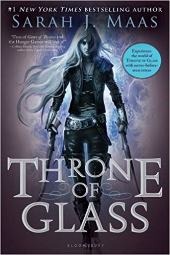 The Throne of Glass series by Sarah J. Maas.