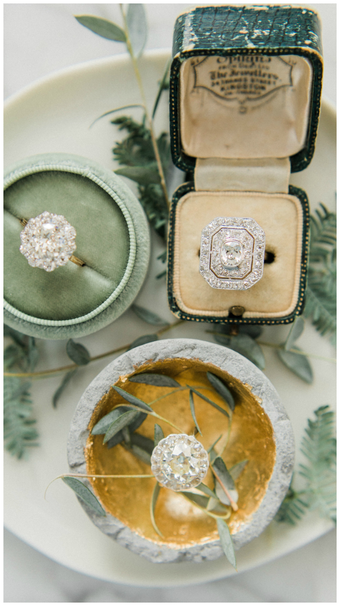 Three beautiful vintage engagement rings from Victor Barbone!