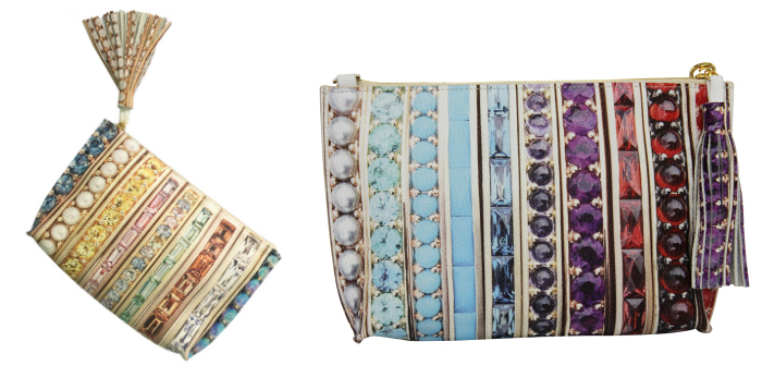 Two pouches from the Jane Tayor Jewelry x Paige Gamble collab.