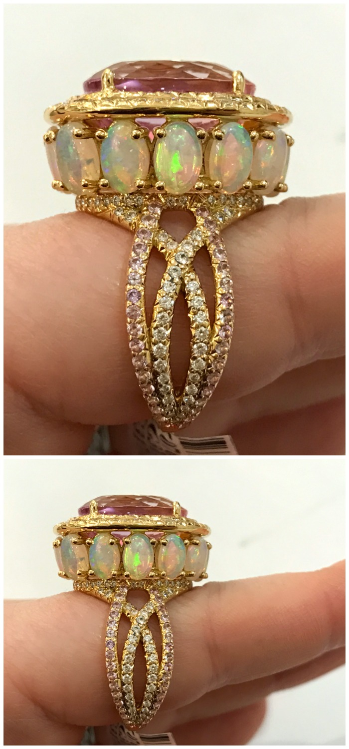 A stunning gemstone and diamond ring by Erica Courtney.