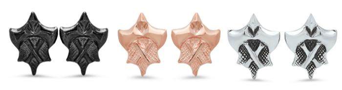 Hatchet Women Collection stud earrings by Kristen Dorsey.