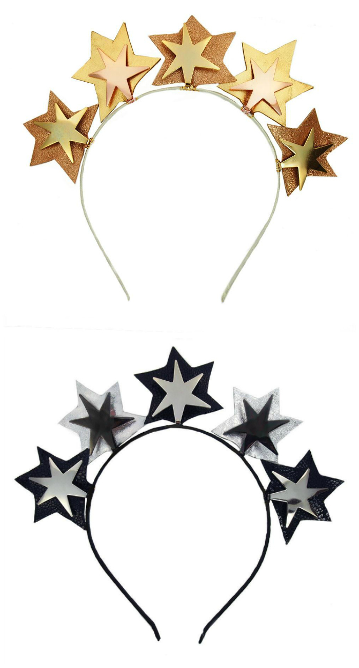 I love these star headpieces by JY Jewels! They're almost more like tiaras than headbands.