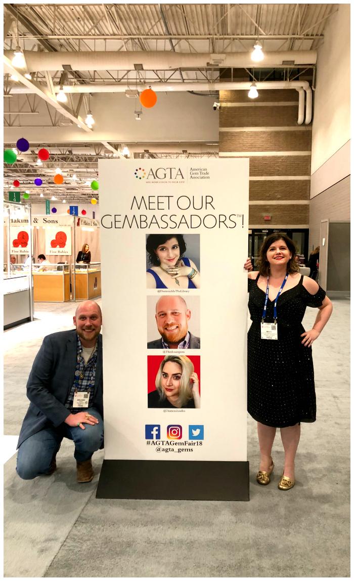 With fellow Gembassador Ben Guttery at the 2018 AGTA GemFair in Tucson!