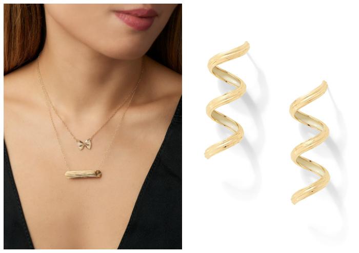 Precious pasta jewelry from Alison Lou's Mama Mia collection.