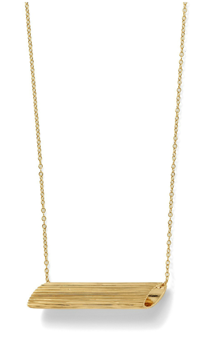 The Penne necklace from Alison Lou's Mama Mia collection.