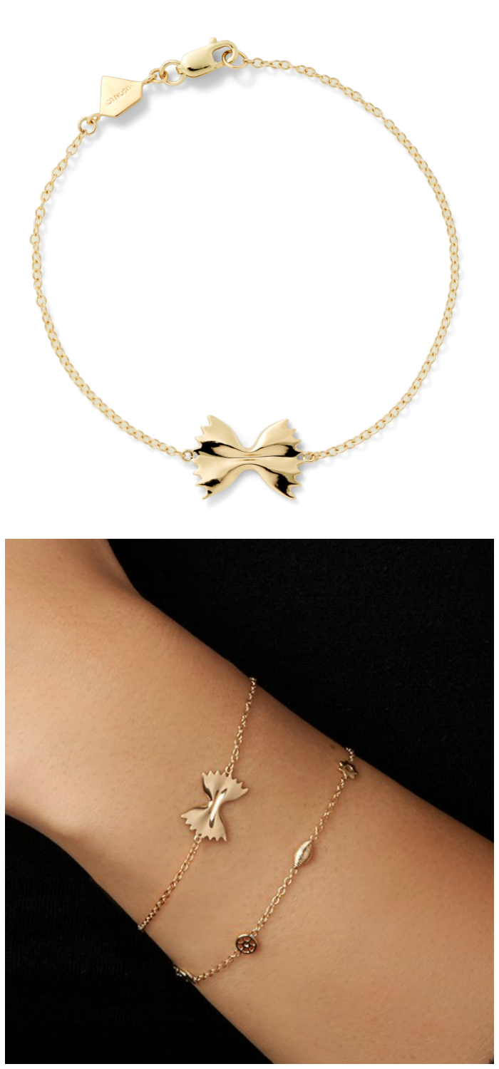 The farfalle bracelet from Alison Lou's Mama Mia collection!