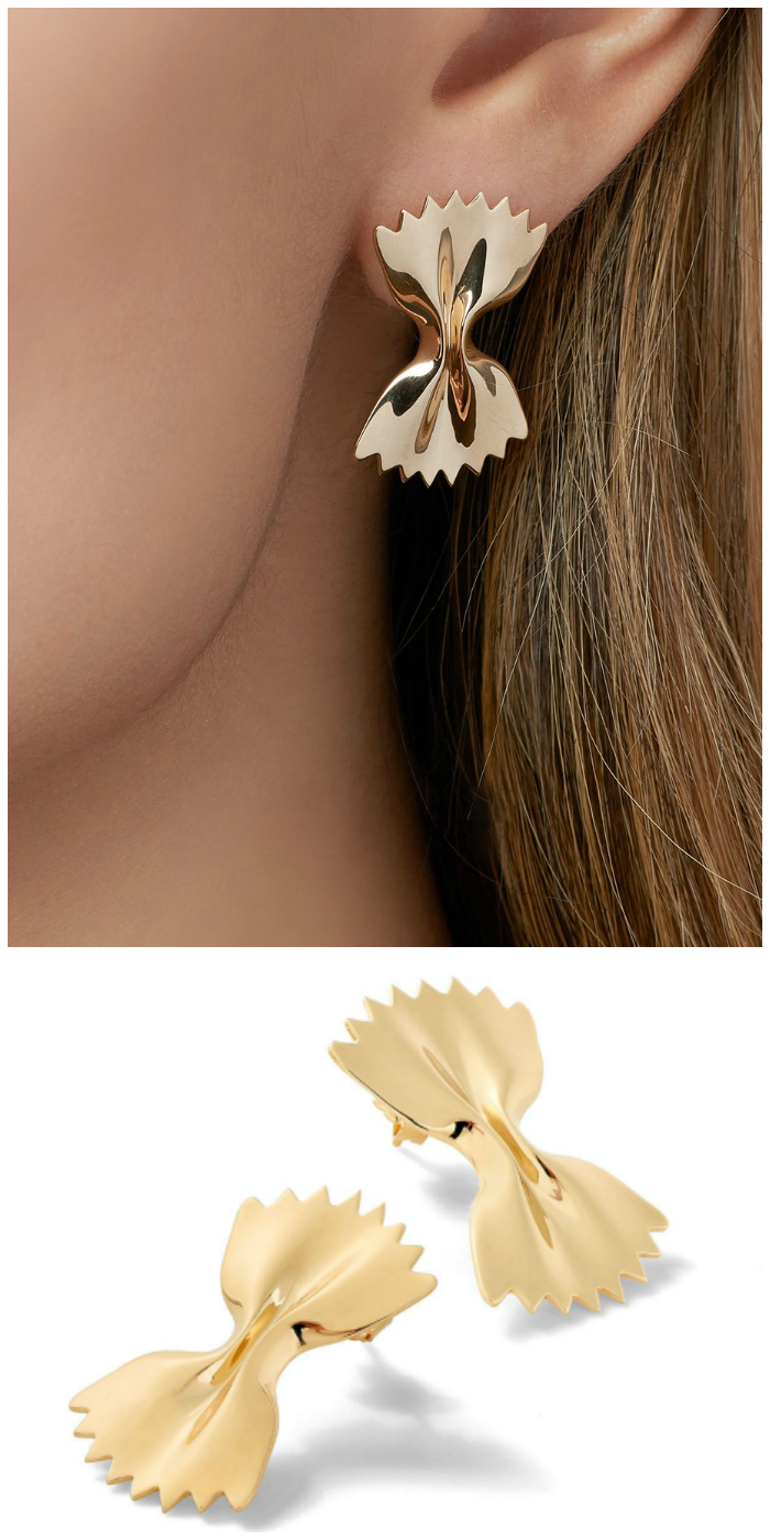 The farfalle earrings from Alison Lou's Mama Mia collection!
