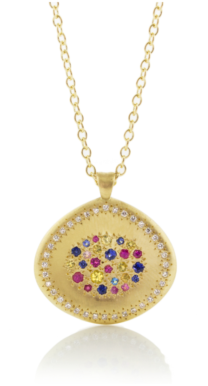 A beautiful multicolored sapphire necklace by Adel Chefridi.