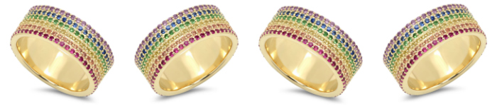 A beautiful rainbow ring by Eriness.