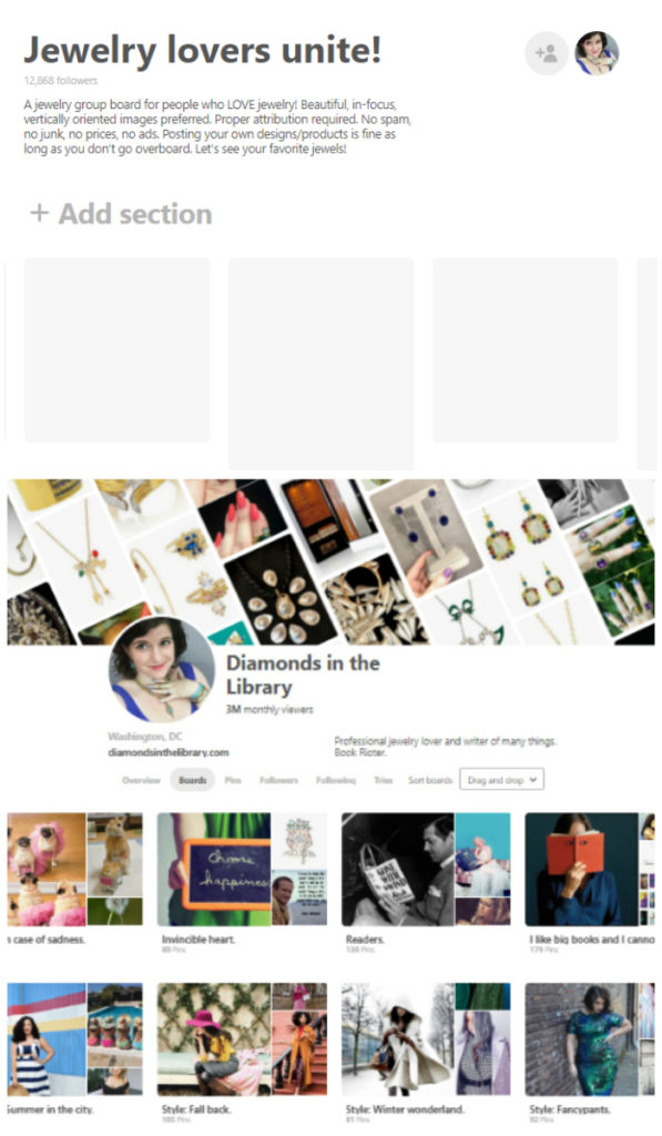 I'm on a mission to create the world's greatest Pinterest jewelry group board!! I want it to be by jewelry lovers, for jewelry lovers. Join me!
