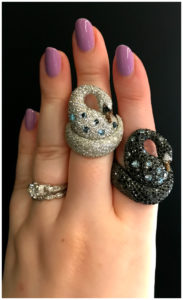 Two beautiful swan rings by Palmerio!! Discovered at VicenzaOro.