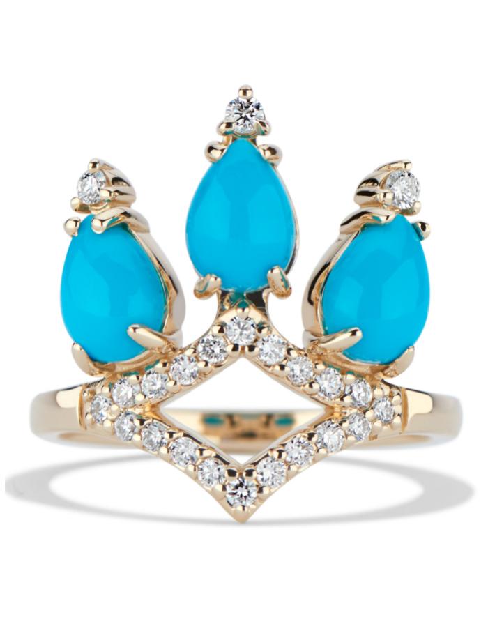 A beautiful turquoise and diamond ring by GiGi Ferranti!