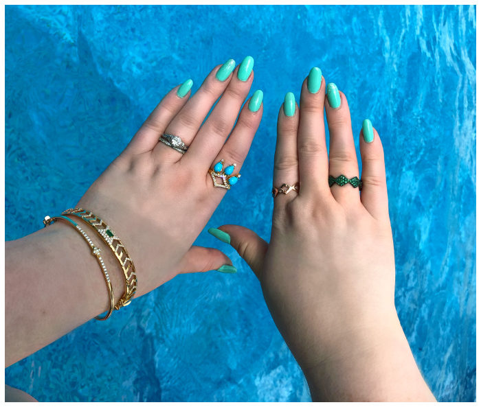 I'm calling this the summer of GiGi Ferranti!! GiGi jewelry is all I want to wear by the pool.