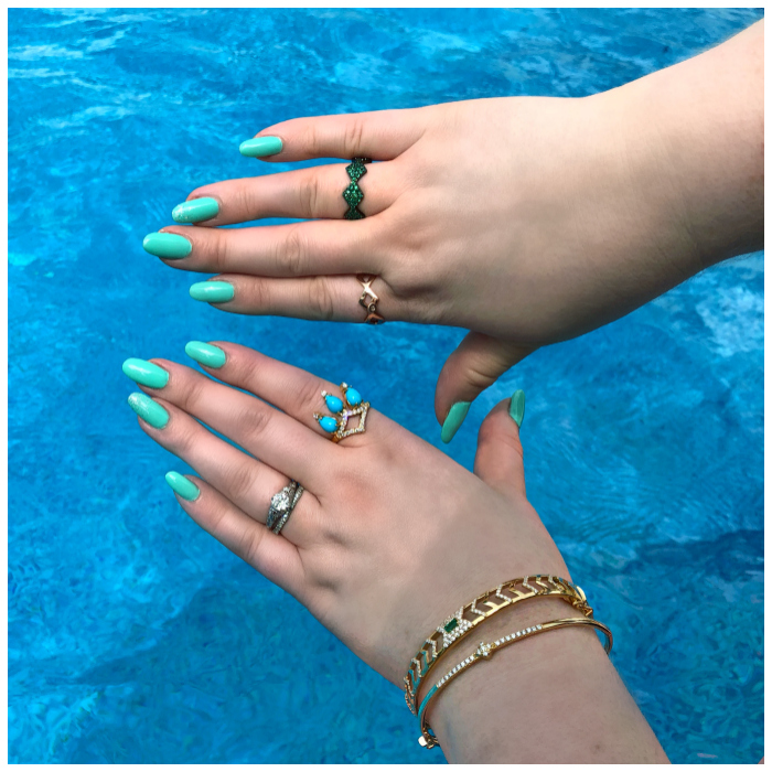 I'm calling this the summer of GiGi Ferranti! GiGi jewelry is all I want to wear by the pool.