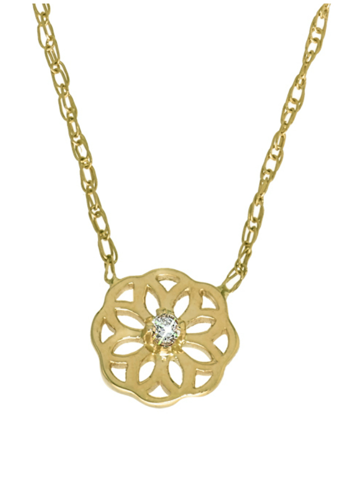 Win a free piece of GiGi Ferranti jewelry in my GiGi Ferranti giveaway!! The winner will get to choose between this gold and diamond necklace or a matching ring.