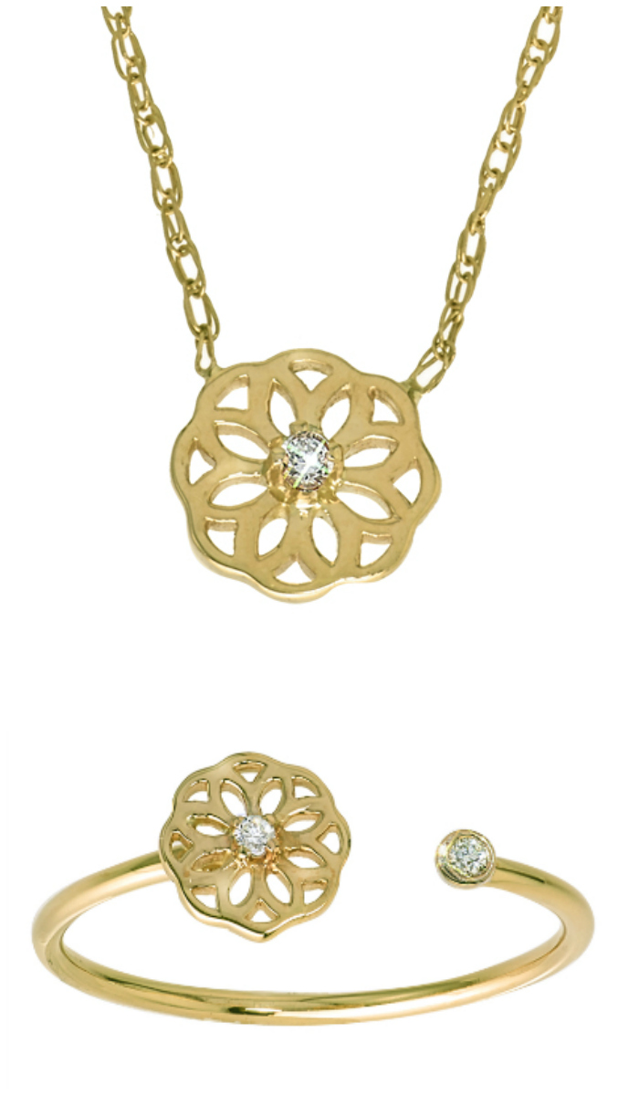 Win a free piece of GiGi Ferranti jewelry in my GiGi Ferranti giveaway!! The winner will get to choose between this gold and diamond necklace or gold and diamond ring.