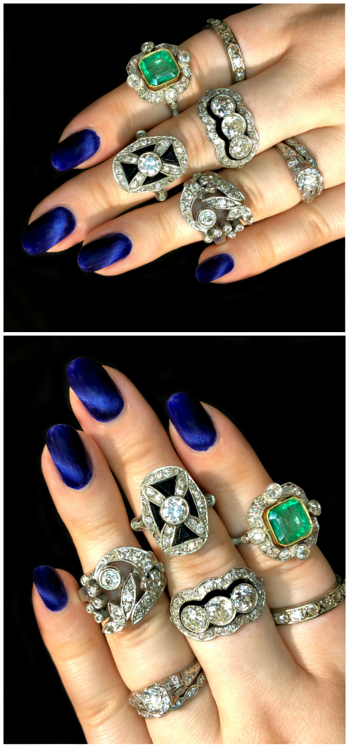 Beautiful antique rings from Cassidy Vintage! Art Deco and Edwardian goodness.
