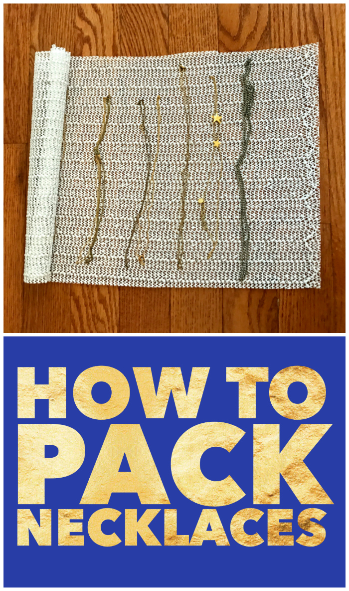 How to pack necklaces so that they don't tangle! Perfect to pack jewelry for a move.