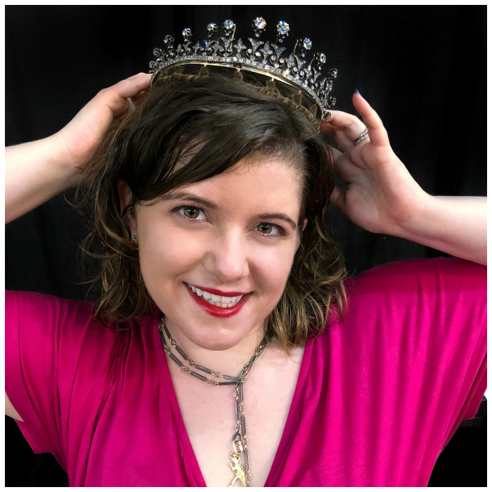When I meet a tiara, I put it on my head! This is an antique Victorian piece from JS Jewels LTD and Keith MacRae!