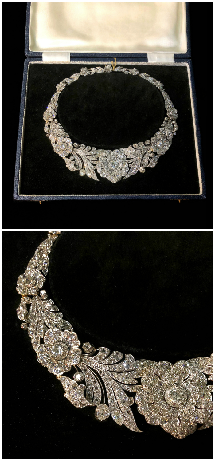 An utterly incredible antique diamond flower necklace! Spotted at Spicer Warin.